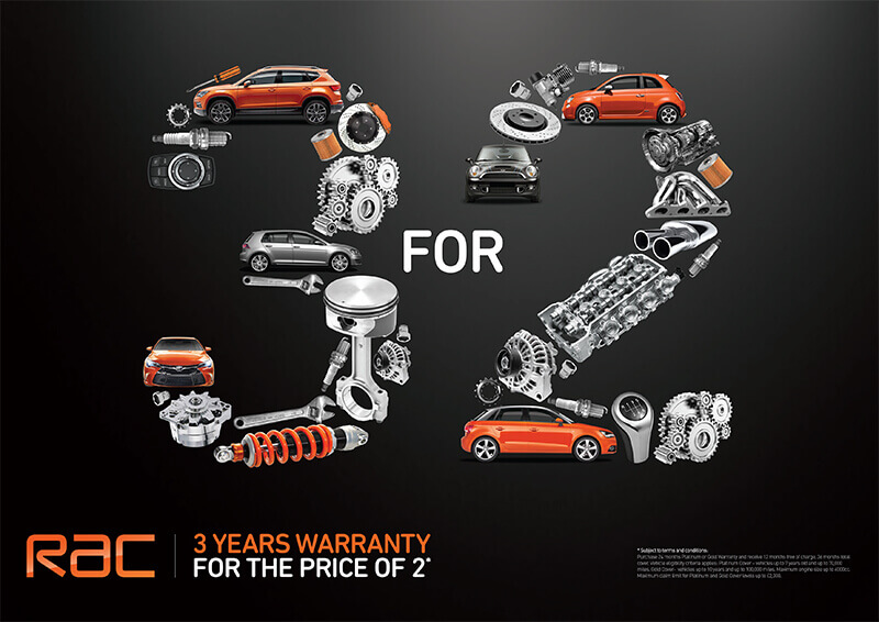 3 for 2 RAC warranty offer